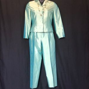 Green Apple Iridescent Pant Suit by Ann Taylor
